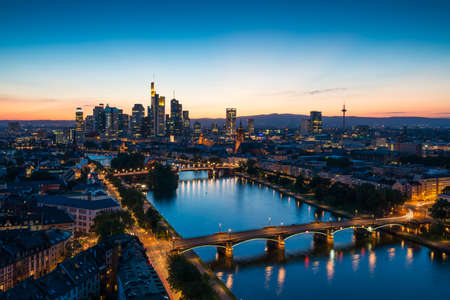 Frankfurt am Main Cityscape Germany Banque d'images