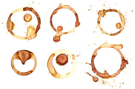 Background coffee ring. Real coffee.