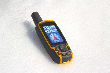 GPS Receiver on the snow