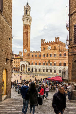 March 14, 2017 - Siena - Italy: View of Piazza del Campo in the city of Siena (Tuscany -Italy).