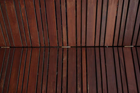 wooden partition: Wood folding door detail Stock Photo