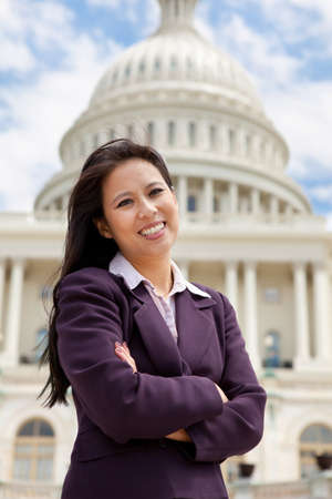 Asian business woman on Capitol Hill photo