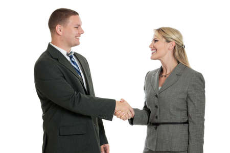 Business people shaking hands Stock Photo - 11403296