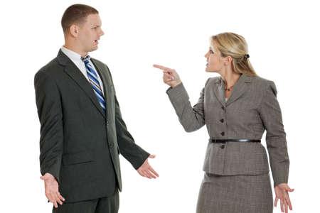 argument: Mensen uit het bedrijfsleven ruzie