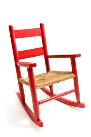 silla de madera: Restaurado cosecha del ni�o mecedora