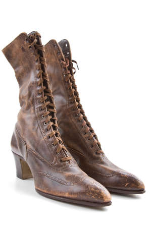 Women s shoes: Vintage ladies leather boots