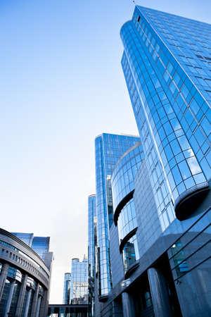 Bâtiment du Parlement européen à Bruxelles, Belgique Banque d'images - 12717457