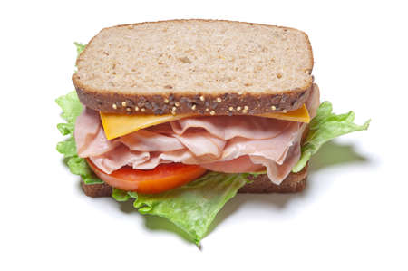 Sandwich à la dinde Banque d'images - 12710180
