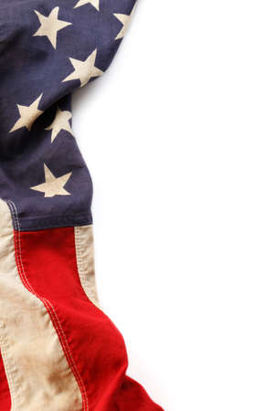 Vintage American Flag Border Stock Photo