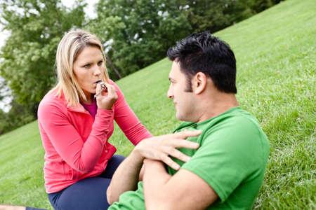 sit ups: Man doing sit ups with coach
