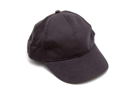 black  cap: Black baseball cap