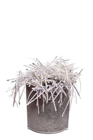 wastebasket: Shredded paper