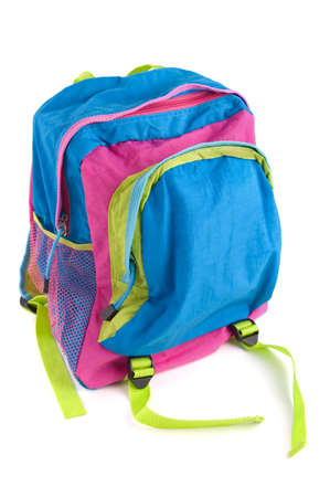 Kids backpack isolated on white