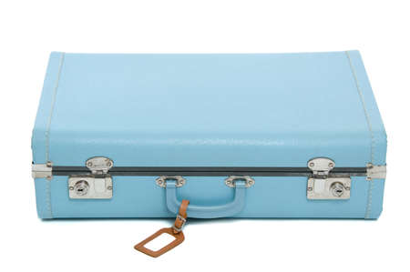 Vintage suitcase isolated on white Stock Photo - 12710214