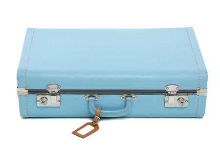 Vintage suitcase isolated on white Stock Photo - 12710214