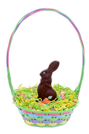 Easter basket isolated on white Stock Photo - 12702470