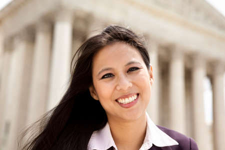 Business woman at Supreme Court Stock Photo - 12897284