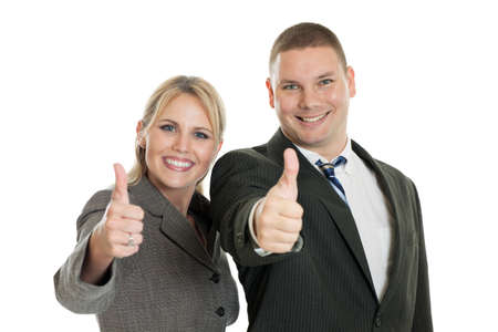 Business team with thumbs up Stock Photo - 12897295