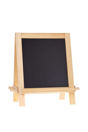 Blank Chalkboard Easel isolated on white