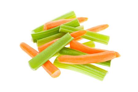 celery: Carrot and celery sticks