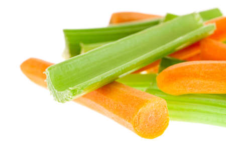 Carrot and celery sticks photo