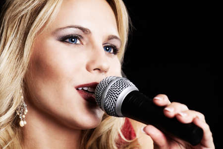 female singer: Female singer close up