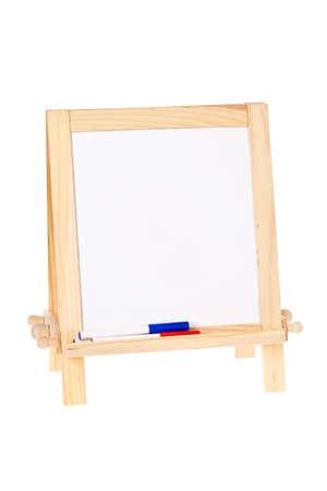 Blank whiteboard isolated on white Stok Fotoğraf