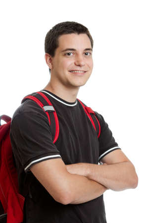 17: Confident teen student