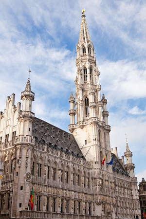 Town Hall in the Grand Place in Brussels Belgium