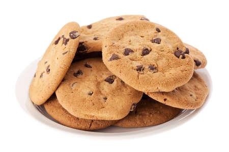 Piatto di biscotti al cioccolato Archivio Fotografico - 13253318
