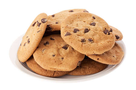 chocolate cookie: Plato de galletas de chocolate
