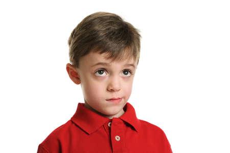 consider: Child thinking portrait