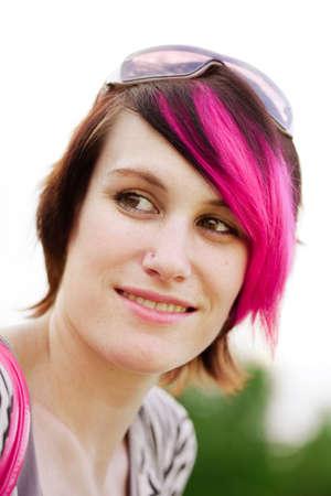 Young punk woman portrait photo