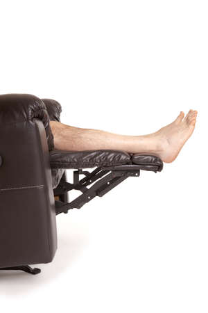 recliner: Feet on a recliner
