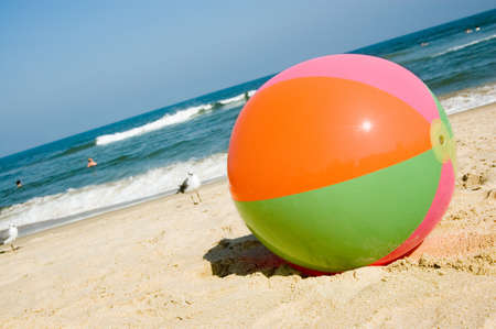 Beach ball on Virginia Beach