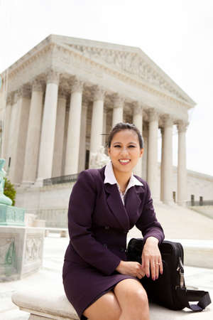 Asian business woman at the US Supreme Court photo