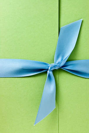 Invitation with blue bow Banco de Imagens