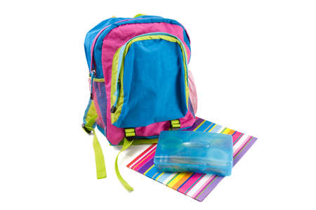 child's: Backpack and school supplies
