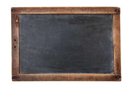 흰색에 고립 된 빈티지 직사각형 칠판