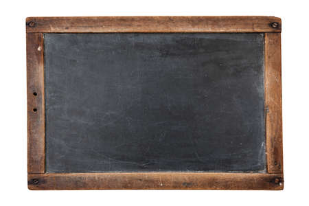 Vintage rectangular chalkboard isolated on white