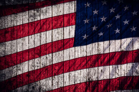 American flag rustic composite photo