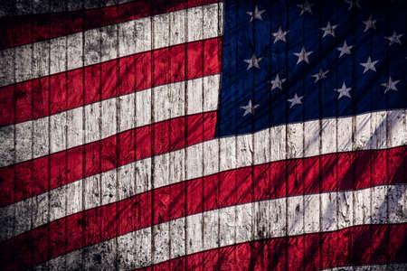 American flag rustic composite