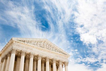 supreme court: United States Supreme Court building in Washington DC Stock Photo