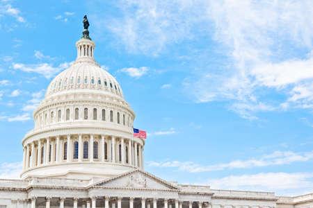 representations: United States Capitol building in Washington DC Stock Photo