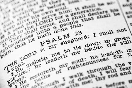 Psalm 23 in the Holy Bible