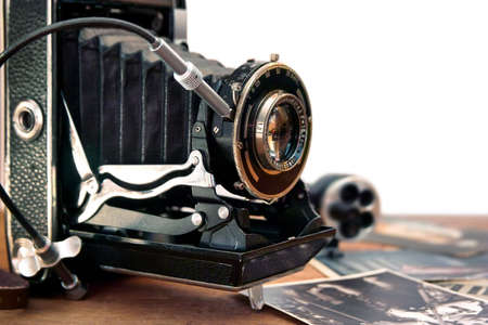 old items: Vintage camera and retro items