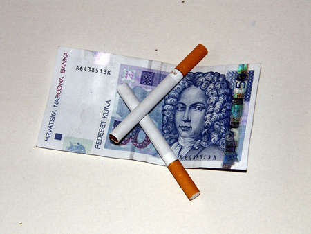 quiting: Money and cigarets