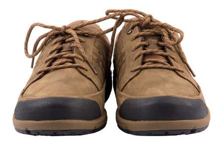 breathable: Stivali da uomo Brown s isolato su sfondo bianco