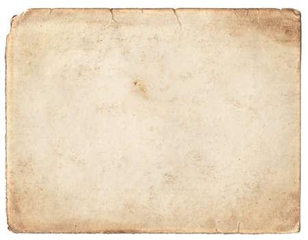 historische: Blank vintage fotopapier geïsoleerd op witte achtergrond