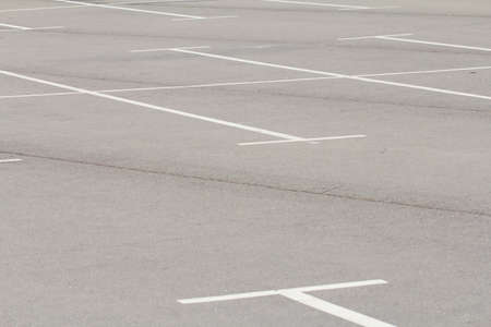 Empty space in a parking lot Stock Photo